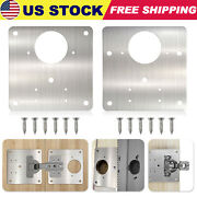 Stainless Steel Hinge Repair Plate W/ Holes For Cabinet Furniture Drawer Window