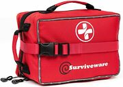 Surviveware Large First Aid Kit And Added Mini Kit For Trucks Car Camping