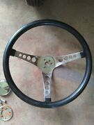 Vintage 500 Superior Steering Wheel 14 In. And 55-57 Chevy Horn Install Kit.