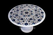 36 Marble Coffee Table Top Semi Precious Stones Inlay Work With Marble Stand