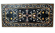 60 X 36 Marble Coffee Table Top Pietra Dura Marquetry Inlay Handmade Work