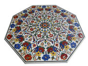 52 Marble Coffee Sofa Table Top Inlay Pietra Dura Floral Work Home Decor