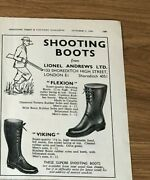 Stgun51 Advert5x4 Shooting Boots From Lionel Andrews Ltd, Flexion And Viking