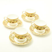 Wedgwood Teacup Saucer Sets Floral Tapestry Bone China Scrapped Products Antique
