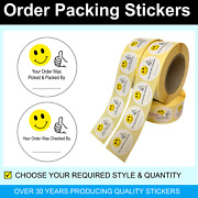 Your Order Has Been Picked And Packed By - Packing Stickers / Labels 45mm Circles
