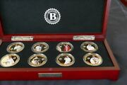 2016 Pope Francis The Jubilee Of Mercy 24k Gold Plate 8 Coin Proof Set Wood Box