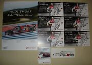 Le Mans 2016 Wec Silverstone Audi R18 Drivers Signed Card Set And Press Media Item