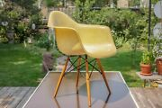 Eames Zenith/herman Miller Daw Yellow Arm Shell With Dowel And Rope Edge. Stunning