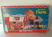 Vintage Fisher Price Little People Number 915 Play Family Farm With Box