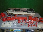 1960and039s The Chief Deluxe Reading Toys Fire Chief 17 Fireman Truck Helmet Playset