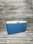 Vintage Coleman Poly-lite Cooler Original Box And Food Tray 17 Gallon Beer And Soda