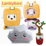 New Lankybox World Foxy And Boxy Plush Doll Soft And Stuffed Toy For Kids Gift Doll