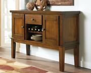 Brown Dining Room Buffet Server Rustic Kitchen Sideboard Credenza Mini Wine Bar