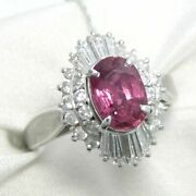 Differentiation Book With Ruby 1.21ct Diamond 0.58ct Pm900 Platinum Rin
