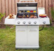 Gas Grill Stainless Steel 4 Burner Side Outdoor Bbq Patio Propane Lp Barbeque