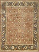 Traditional Turkish Knotted Wool Area Rug Antique Rug Pastel Oushak 8x10 -7075