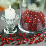 400 Burgundy Crystal Like Mini Ice Cubes Wedding Party Centerpieces Vases Filler