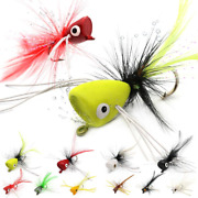 Popper-flies-for-fly-fishing-topwater-bass-panfish-bluegill Poppers Flies Bugs L