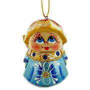 Angel Christmas Ornament Hand Made Russian Carved Painted Christmas Decoration
