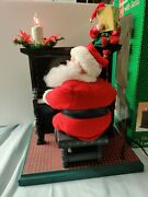 Sing-along W/ Santa Animated Cassette Player Piano Lights Holiday Creations 1993
