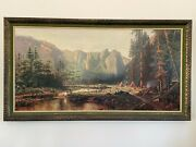 Henry Cleenewerck Print With Frame From Pre-1970s. 48x24 Excellent Condition.