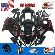 Injection Red Flame Plastic Fairing Fit For Suzuki 2008-2015 Gsxr 1300 C024