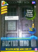 Brand New Doctor Who The Eleven Doctors Figure Set Police Box Collectible 1996