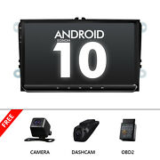 Obd+dvr+cam+carplay Gps 9 Android 10 Car Radio Stereo Usb Android Auto For Vw