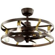 13 Inch Ceiling Fan Light Led Indoor Satin Natural Bronze Wall Switch Small