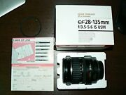 Canon Ef 28-135mm F/3.5-5.6 Is Usm Standard Zoom Lens For Canon Slr Cameras Whit
