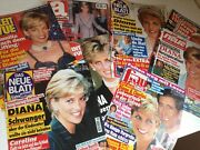 Fifty Original Magazine Covers Picturing Princess Diana =free Shipping