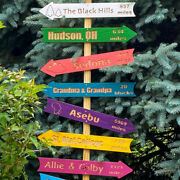 Personalized Direction Mileage And Destination Signs - Custom Carved Arrows