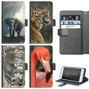 Elephant Phone Case Pu Leather Side Flip Wallet Case For Apple Iphone 678 X