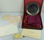 1977 Danbury Mint Washington Valley Forge Solid Sterling Silver Plate 7.5 Ozmint
