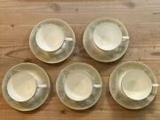 Wedgwood Colombia Sage Green Cup Saucer Set Of