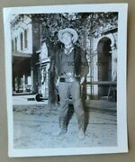 C.1958 Photo...famous Western Cowboy Actor Armed With Two Pistols On Movie Set