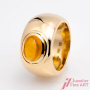 Ring Band Ring 750/18k Yellow Gold 1 Citrine 30ct Ring Size 58