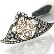 Antique Brooch Approx. 19 Century Dia Altschliff 15 Ct In Silver And Red Top