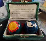 Baoding Health Balls Stress Therapy Musical Hand Exercise Sun Moon And Stars 2