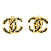 Earring Gold Metal Coco Mark From Japan Used
