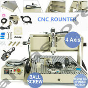 4axis Usb 6090 Cnc Router Milling Engraving Machine 3d Diy Carving Machine 1500w