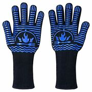 14 Flexible Anti-heat Gloves 1472anddegf Non-slip Food-grade Silicone Cooking
