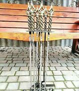 Set Forged Stainless Skewers Gift For Grill Bbq Tools Forged Bbq Accessories