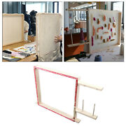 Wooden Tufting Rug Making Frame Cross Stitch Frames Desk Stand Accessories