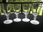 Vintage L.g. Wright 3 Faces / Graces Goblets-- Set 4-- Immaculate Condition