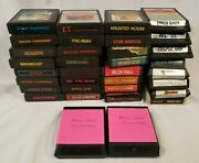 Atari 2600 Game Cartridges Lot Of 34 Different Games Donkey Kong Pacman E.t.