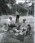 1974 Photo Family Dines At Weracobe Park Bandshell 8x10