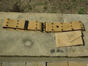 Wwii Original British Made Pistol Belt And First Aid Pouch