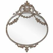 Rustic Decorative Metal Oval Wall Mounted Mirror For 10.43 X 0.59 X 12.52