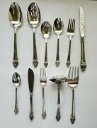 Antique Reed And Barton Mirrorstel Silver Plated Cutlery Set Of 47 Made In Us